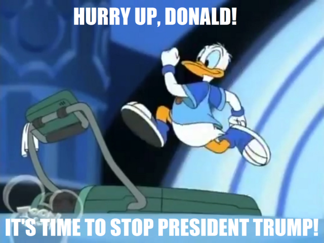 File:My Donald running treadmill meme.png