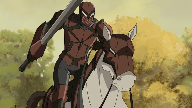 File:Spyder-Knight riding his fathful stead USMWW.png