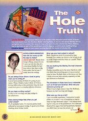Louis Sachar Holes interview Nickelodeon Magazine March 2001