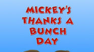 Mickey's thanks a bunch day title