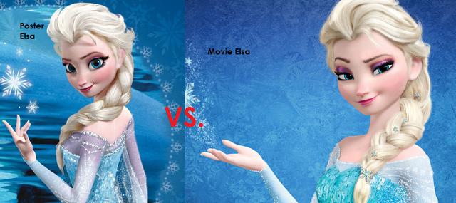 File:Poster Elsa VS. Movie Elsa.png