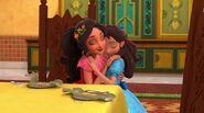 Elena and Isabel hugging (Model Sister)