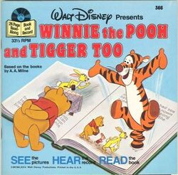 Winnie the Pooh and Tigger Too Disney Read Along Record