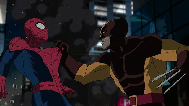 File:Ultimate Spider-Man - Wolverine.jpg