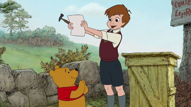 File:Christopher Robin found out Pooh Bear's drawing is a grand idea.jpg