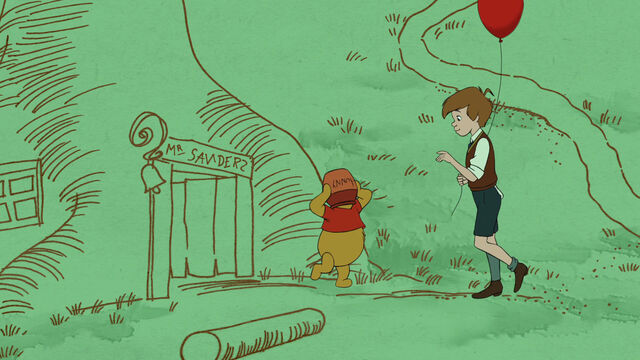 File:Christopher Robin is with Pooh Bear who's head is stuck in a honey pot.jpg