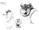 Early concept of Jabba the Hutt