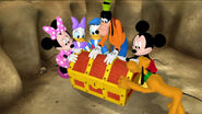 The clubhouse pals opening the treasure chest
