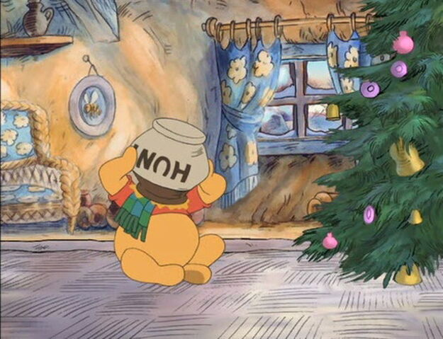 File:Winnie the Pooh trys to get the honeypot off his head.jpg