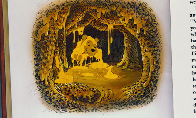 File:Winnie the Pooh in the honey tree time for something sweet.jpg