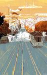 San Fransokyo Tram Hill Concept Art