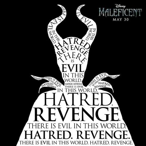 File:Maleficent There Is Evil In This World Hatred Revenge Poster.jpg