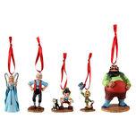 Pinocchio character ornament set
