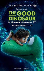 The Good Dinosaur Second UK Poster
