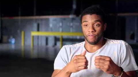 """Captain America Civil War Behind-The-Scenes """"Black Panther"""" Interview - Chadwick Boseman"""