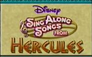 Disney Sing Along Songs From Hercules Title Card