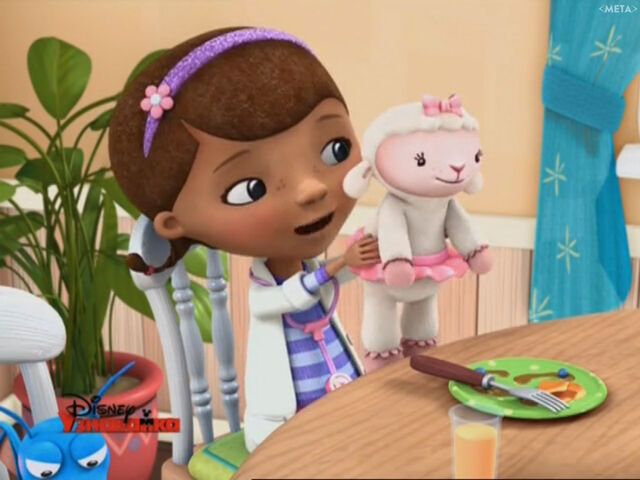 File:Doc and lambie at breakfast.jpg