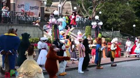 Disneyland's 59th Birthday Character Celebration (2 Cameras)
