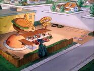 Goof Troop - Behemuth Burger Restaurant - Aerial View - 2
