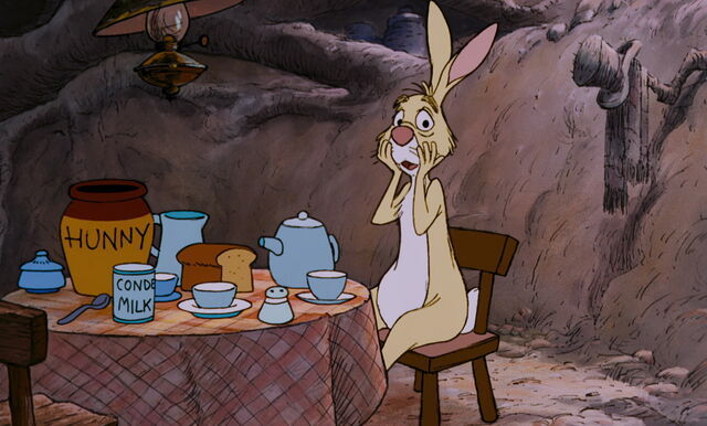 File:Rabbit found out Pooh Bear has come to have honey for lunch.jpg