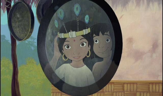 File:Mowgli and Shanti are both looking at a mirror.jpg