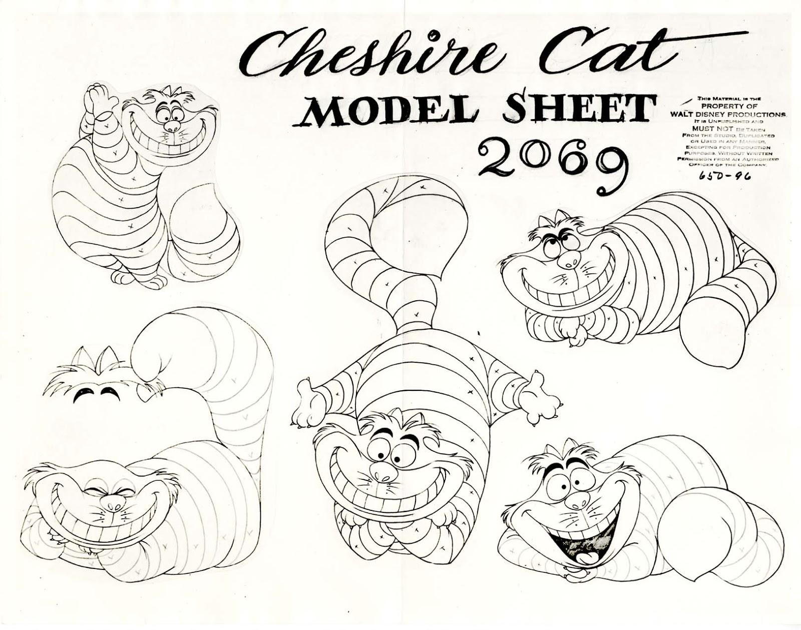 model sheet cheshire cat