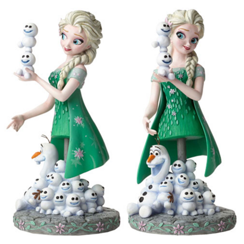 File:Frozen Fever Elsa and Olaf Grand Jester Mini-Bust.png
