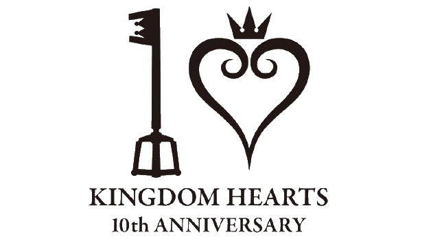 File:Kingdom hearts 10th anniversary logo transparent.png