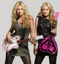 Aly-and-aj-guitar-hero-guitars