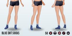 Tempo - Blue Dot Socks
