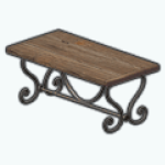 IndoorPicnicSpin - Wrought Iron Table