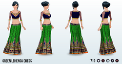 ArabianNights - Green Lehenga Dress