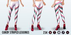 JingleBellsClothing - Candy Striped Leggings