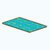 AtomicKitchenDecor - Retro Turquoise Rug