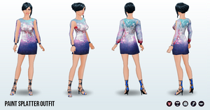 Career - Paint Splatter Outfit
