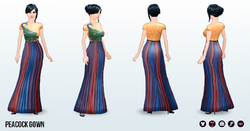 ArabianNights - Peacock Gown