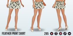 FlightsOfFancy - Feather Print Skirt