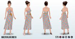IndoorPicnicSpin - Multicolor Dress