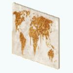 WinterGlamDecor - Gold World Map