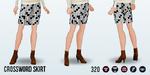 WorldHelloDay - Crossword Skirt