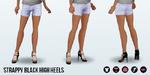 FashionWeek2014 - Strappy Black High Heels