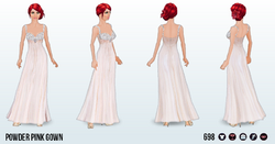 FrostyNightSpin - Powder Pink Gown