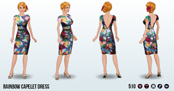 CafeRaffle - Rainbow Capelet Dress