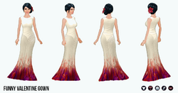 BeMyValentine - Funny Valentine Gown