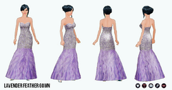 SpringRunway - Lavender Feather Gown