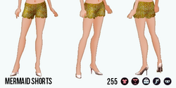 ModernStorybook - Mermaid Shorts yellow