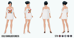 BoldBohemian - Cold Shoulder Dress