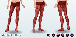 CitySpree - Red Lace Tights