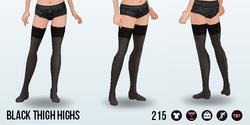 Coquette - Black Thigh Highs