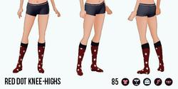 Jolie - Red Dot Knee-Highs